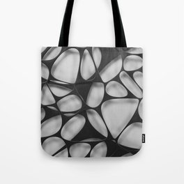 Black on white, organic abstraction Tote Bag