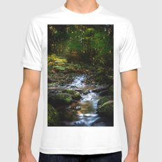 Reality lost White MEDIUM Mens Fitted Tee