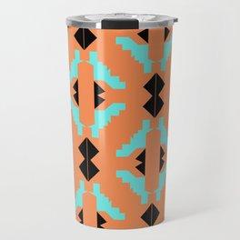 Design aztecs on orange Travel Mug