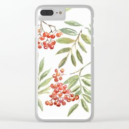 Miss Rowanberry Clear iPhone Case