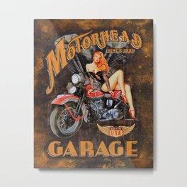 Motorhead Garage Vintage Poster Metal Print