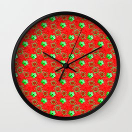 Holiday Honu Turtles Wall Clock