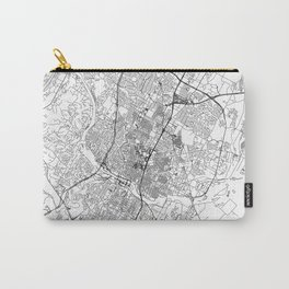 Austin White Map Carry-All Pouch