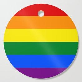 Pride rainbow flag Cutting Board