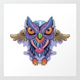 Owl Colors Art Print