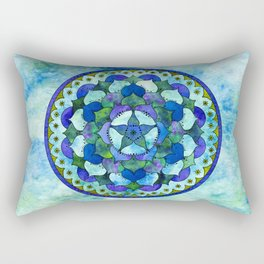 Star Mandala Ocean Rectangular Pillow