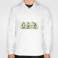 cows Hoodies featuring Three cows by Tali Shemes