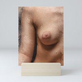 Femenine Nude Breast. Watercolor Mini Art Print
