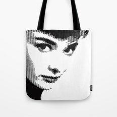 Audrey Hepburn Close Up Tote Bag