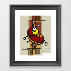 Deco Parrot Framed Art Print