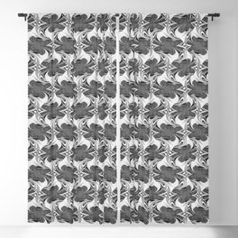 Modern abstract artistic black and white surface 613 Blackout Curtain