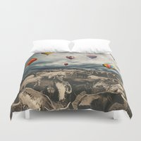 balloons Duvet Covers featuring Balloons by Mrs Araneae