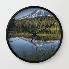 Reflecting a Mountain Wall Clock
