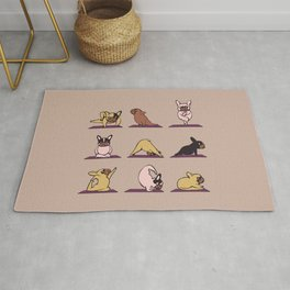 French Bulldog Yoga Rug
