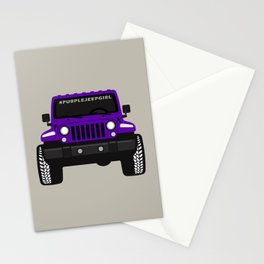 [JEEP] #Purple Jeep Girl Stationery Cards