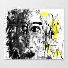 speak out  Canvas Print