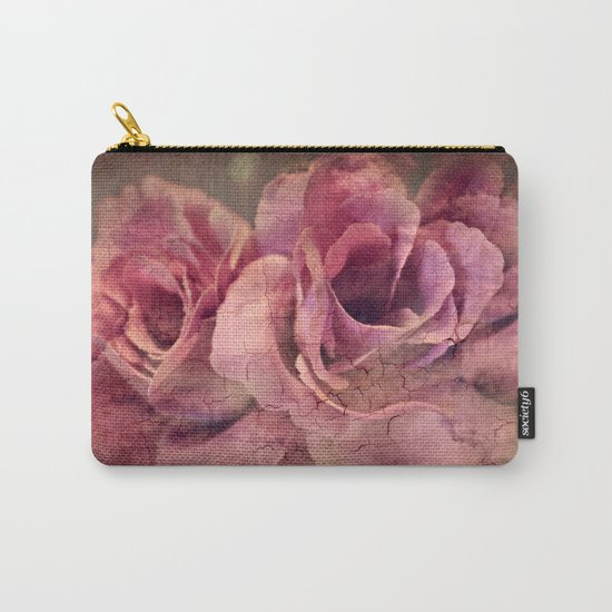 Vintage Roses - Deep Pink Carry-All Pouch