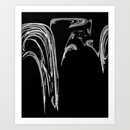 Number 2 in White Series Art Print