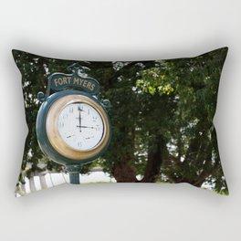 Fort Myers Clock Rectangular Pillow