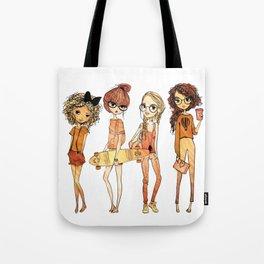 Four Vintage Girls Tote Bag