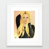 britney Framed Art Prints featuring BRITNEY SPEARS  .- BRITNEY JEAN  by Alfonso Aranda