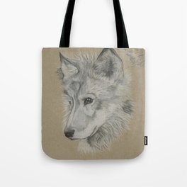 Wolf Pup Tote Bag