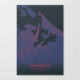 Tauranga, New Zealand - Neon Canvas Print