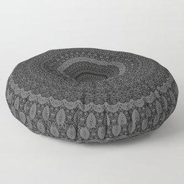blackwhite mandala Floor Pillow