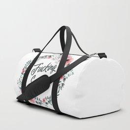 Fucking summer vintage pattern Duffle Bag