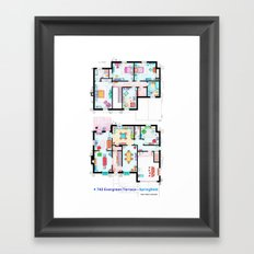 The house of Simpson family - Both floorplans Framed Art Print