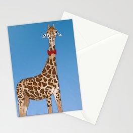 Giraffe Wearing Bowtie Stationery Cards