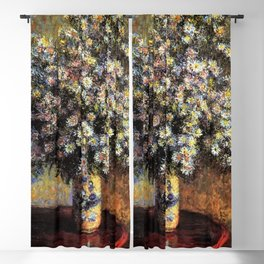 Classical Masterpiece 'Asters' by Claude Monet Blackout Curtain