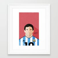 messi Framed Art Prints featuring Messi by Mohammed Albassami