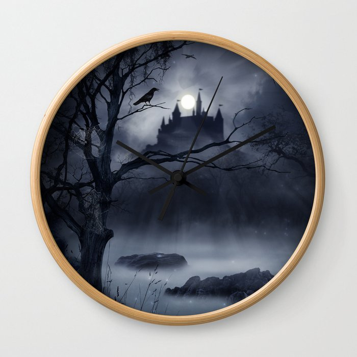 Gothic Night Fantasy Wall Clock