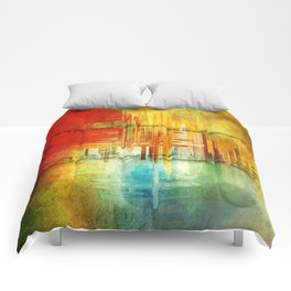 Letters Home Abstract Comforters