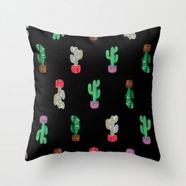 Crooked Cacti. Throw Pillow
