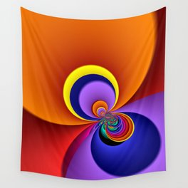time for fractals -5- curtain Wall Tapestry