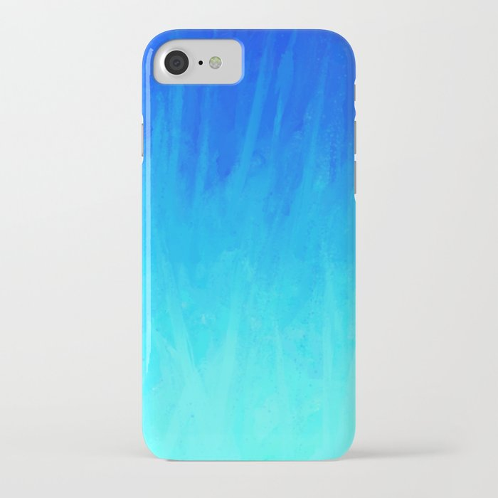 Icy Blue Blast iPhone Case