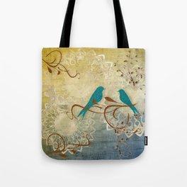 Bleu Birds Tote Bag