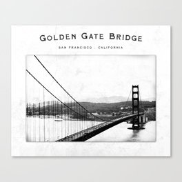 Golden Gate Bridge - San Francisco Canvas Print