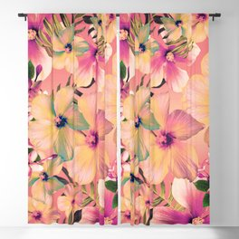 Rose Glow Tropic Blackout Curtain
