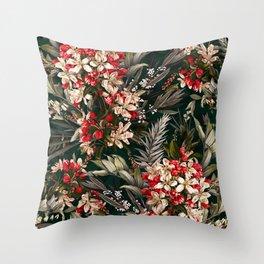 Midnight Garden XI Throw Pillow