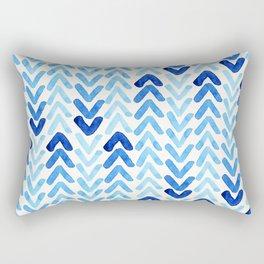 Blue Watercolour Arrows Rectangular Pillow