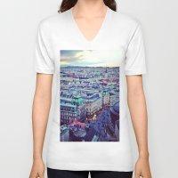 vienna V-neck T-shirts featuring Vienna by SandraHuezo