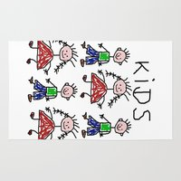 kids Area & Throw Rugs featuring Kids by Digital-Art