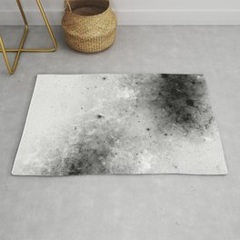 Creeping Black - Abstract black and white Rug