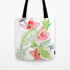 My tropical flowers Tote Bag