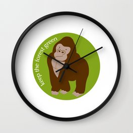 Keep the Forest Green_03 Wall Clock