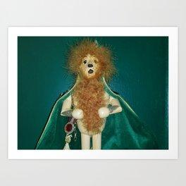 The Cowardly Lion Art Print