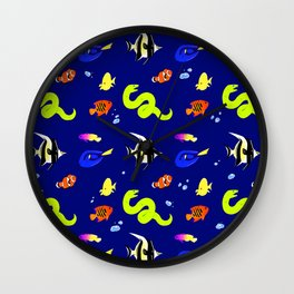 Sleeping with the fishes Wall Clock